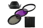 Xcsource Couvercle lentille 58mm + set de filtres uv cpl fld pour canon 5d 7d 60d 600d 550d 500d lf136