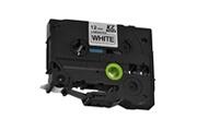 Xcsource Xcsource ruban d'étiquettes kze231 12mm x 8m standard noir laminé sur blanc cassette étiqueteuse compatible pour brother p-touch tz231 tze321 hs1161