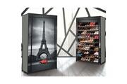 Idmarket Étagère range chaussures 50 paires housse imprimé paris