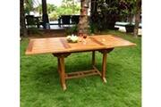 Wood-en-stock Table extérieur en teck huilé 8 places