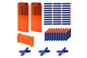 Xcsource Xcsource magazine de recharge à 12 tours recharge rapide cartouche de pince orange x2 + balles munitions douces eva 100 pcs pour pistolet jouet nerf n-strike elite th729
