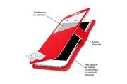 PH26® Etui folio à fenêtre pour HP Elite x3 façon cuir rouge avec rabat aimanté by PH26®
