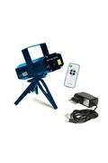The Home Deco Factory Laser disco mp3 avec télécommande - 6 effets lumineux - bleu