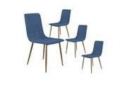 Altobuy Modrus - lot de 4 chaises bleu foncé