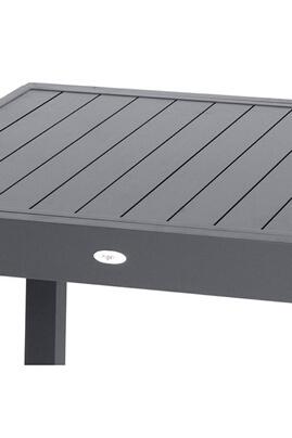 Hesperide Table de jardin extensible 10 personnes piazza lattes - l.  135/270 cm - gris anthracite