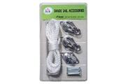 HOMCOM Kit de montage accessoires de fixation en inox pour voile d'ombrage