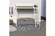 LE QUAI DES AFFAIRES Lit mezzanine studio 90x190 + 1 sommier / naturel
