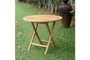 Teck'attitude Table de jardin en teck pliable ø 90 cm - adomée