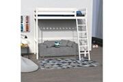 LE QUAI DES AFFAIRES Lit mezzanine studio 90x190 + 1 sommier / blanchi