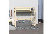 LE QUAI DES AFFAIRES Lit mezzanine studio 90x190 + 1 sommier / vernis naturel