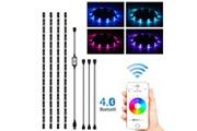 Xcsource Xcsource 4 x 0.5m rgb led bande light app bt control coloré sync à la musique minuterie flexible fort adhésif diy kit rétro-éclairage tv ld1567