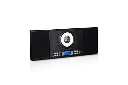 Auna Wallie micro chaîne hifi avec lecteur cd / bluetooth / port usb mp3 - radio fm - télécommande - noire