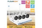 Floureon Caméra de surveillance kit vidéosurveillance 4ch sans fil cctv 1080p dvr nvr + 4 ip caméra