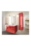 AUCUNE Luna ensemble salle de bain simple vasque l 80 cm - rouge verni