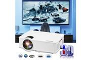 Excelvan Vidéoprojecteur led lcd 800x480 pixels 1200 lumens home cinéma avec câble hdmi - blanc