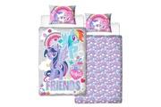 My Little Pony My little pony housse de couette - 50% coton - 50% polyester - 1-personne (135x200 cm + 1 taie) - 1 pièce (74x48 cm) - multicolore