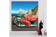 Bebegavroche Papier peint xl intisse flash mcqueen & francesco bernoulli cars disney 180x202 cm
