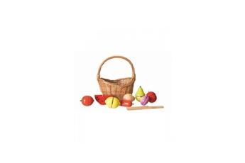 Set de fruits et legumes en bois  dans son panier