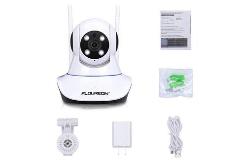 Floureon Caméra ip moniteur pour bébé 1080p 2.0mp 1920*1080 ipc wifi h.264 wireless pt ir-cut caméra de surveillance