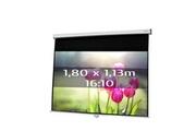 KIMEX Ecran de projection manuel 1,80 x 1,13m, format 16:10