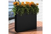 Casasmart 1 bac rectangle pot de fleurs en rotin noir cs410841