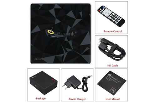 Beelink Gt1 ultimate smart tv box android 7.1 amlogic s912 3 go + 32 go media player