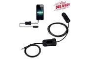 Homdox Émetteur fm pour smartphone mp3 mp4 noir 12-24v 5v/1a