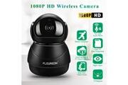 Floureon Floureon ip caméra 1080p hd h.264 wifi 2.0 mégapixels sécurité cctv ue minuit noir