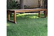 Wood-en-stock Banc de jardin en teck huilé 180 cm - banc extérieur