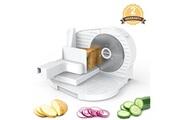 Mliter Mliter fs-9015 trancheur de nourriture électrique portable 150w moteur 6,7 pouces dentelé en acier inoxydable lames d'épaisseur réglable pour les pain viande fromage légumes fruits