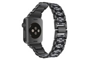 Xcsource Bracelet rinestone noir 44mm en acier inoxydable pour apple watch 4 th1162