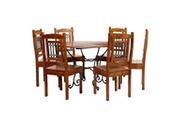 GENERIQUE Ensembles de meubles selection abuja jeu de salle à manger 7 pcs acacia massif et finition sheesham