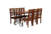 GENERIQUE Ensembles de meubles ensemble oslo jeu de salle à manger 7 pcs acacia massif et finition de sesham