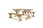 GENERIQUE Ensembles de meubles serie wellington ensemble de salle à manger 3 pcs bois de teck massif