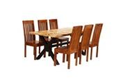 GENERIQUE Ensembles de meubles ligne windhoek ensemble de salle à manger 7 pcs manguier et acacia massif
