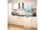 GENERIQUE Armoires et meubles de rangement collection kuala lumpur armoires de cuisine 7 pcs avec hotte blanc brillant
