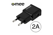 O-mee Chargeur secteur noir sortie usb 2a o-mee pour iphone 4