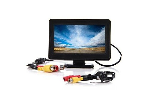 Prixwhaou Caméra de recul-2 in 1 4.3 inch tft lcd car rear view monitor parking cmos ccd auto car rearview reverse backup camera