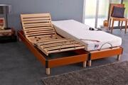 Idliterie Ensemble relaxation mémoire de forme + sommier avec réglage fermeté au niveau lombaire 2x80x200 - fabrication france