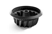 Lekue Moule à kouglof - 22 cm - noir - silicone - lekue