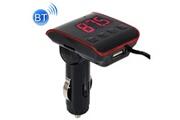 Prixwhaou Transmetteur fm-h22bt voiture lecteur mp3 multifonction voiture sans fil fm lecteur voiture chargeur avec écran led (rouge)