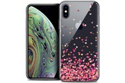 Caseink Coque crystal gel apple iphone xs max (6.5 ) extra fine sweetie - heart flakes