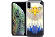 Caseink Coque crystal gel apple iphone xs max (6.5 ) extra fine polygon animals - aigle