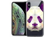 Caseink Coque crystal gel apple iphone xs max (6.5 ) extra fine polygon animals - panda