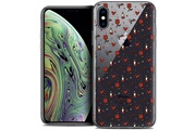 Caseink Coque crystal gel apple iphone xs max (6.5 ) extra fine love - bougies et roses