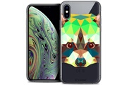 Caseink Coque crystal gel apple iphone xs max (6.5 ) extra fine polygon animals - raton laveur