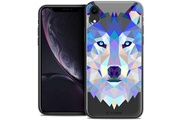 Caseink Coque crystal gel apple iphone xr (6.1 ) extra fine polygon animals - loup