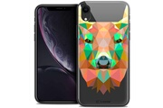 Caseink Coque crystal gel apple iphone xr (6.1 ) extra fine polygon animals - cerf