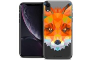 Caseink Coque crystal gel apple iphone xr (6.1 ) extra fine polygon animals - renard