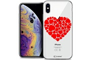 Caseink Coque crystal gel apple iphone xs max (6.5 ) extra fine love - coeur des coeurs